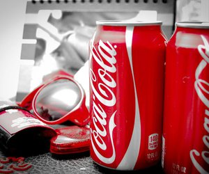 red, coca cola, and cola image