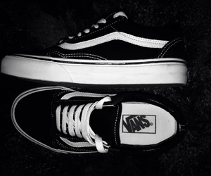 blackandwhite, blanco, and vans image