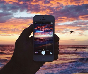 iphone and nature image