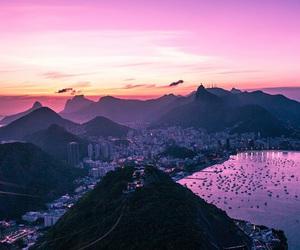 sunset, travel, and rio de janeiro image
