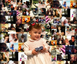 baby, Collage, and family image
