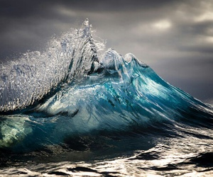 blues, green, and ocean wave image