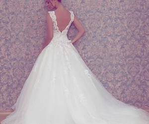 dress, girl, and wedding dress image