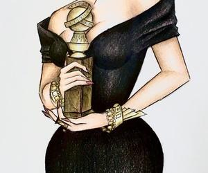 art, black, and black dress image