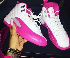 pink, shoes, and jordans image