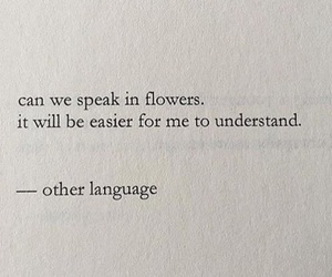 flowers, quotes, and language image