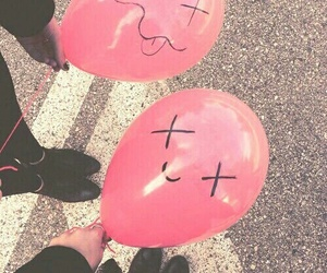 balloons, grunge, and pink image