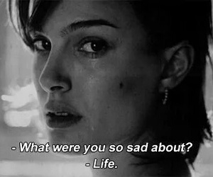 life, sad, and quotes image