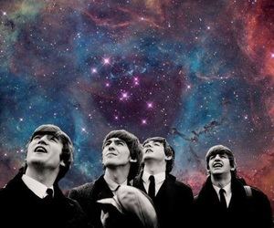 the beatles, galaxy, and beatles image