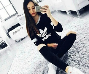adidas, outfit, and black clothes image
