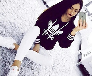 adidas and jeans image