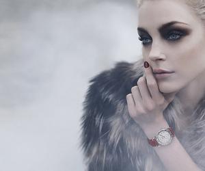 model, Jessica Stam, and makeup image