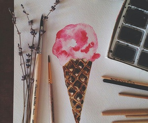 art, ice cream, and drawing image