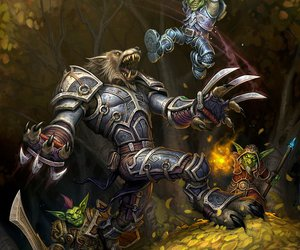 world of warcraft, cataclysm, and worgen vs. goblin image