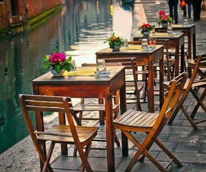 cafe, venice, and palces image