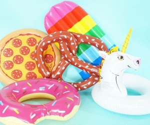 summer, donut, and unicorn image