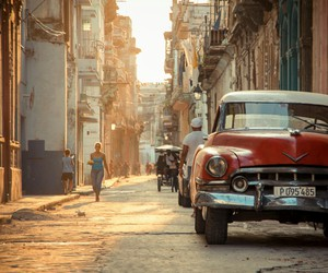 car, vintage, and cuba image