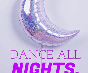 balloon, crescent moon, and dance image