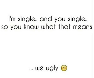 single, ugly, and funny image