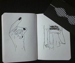 am, draw, and artic monkeys image