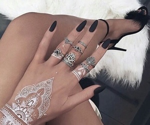 accessories, henna, and nails image