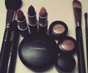 mac, lipstick, and Brushes image