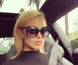 blonde, car, and beauty image