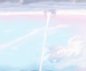 anime, pastel, and sky image