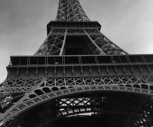 architecture, black and white, and france image