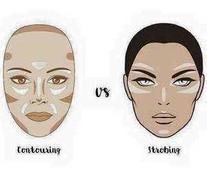 makeup and contouring vs strobing image