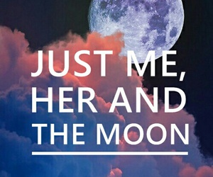 easel, Lyrics, and moon image