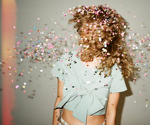 confetti, girl, and yay image