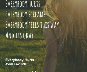 Avril Lavigne, everybody hurts, and music image