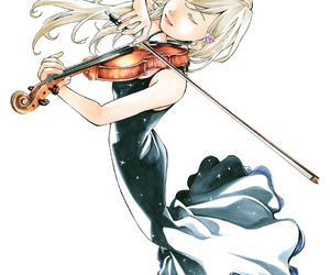 anime, violin, and your lie in april image