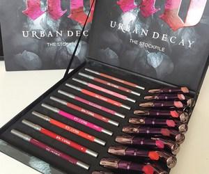 makeup, lipstick, and urban decay image