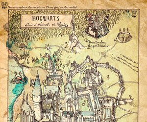 hogwarts, harry potter, and map image