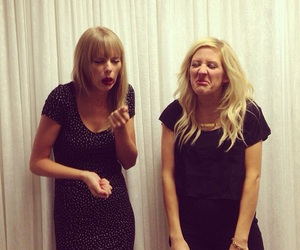 Taylor Swift, Ellie Goulding, and funny image