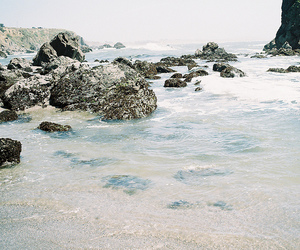 sea, rock, and photography image