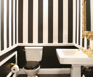 bathroom, black, and white image