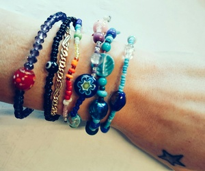 beads, bracelet, and colorful image