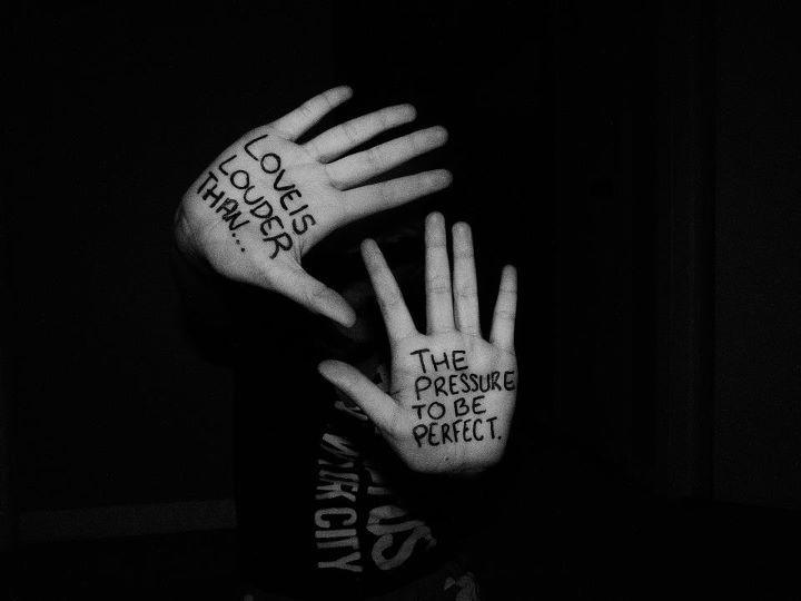 Black White Cute Expression Hands Love