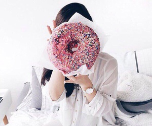 donut, food, and girl image