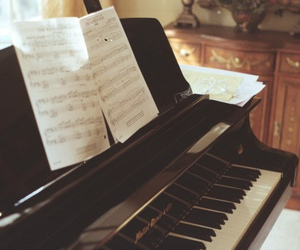 music, piano, and photography image
