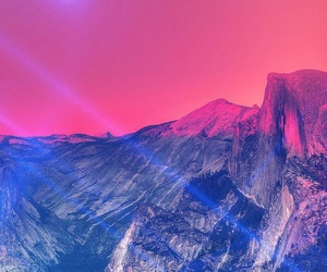 wallpaper, mountains, and pink image