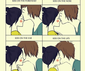 kiss, couple, and boy image