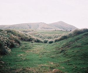 green, hills, and mountains image