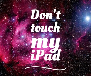 don't touch and ipad image