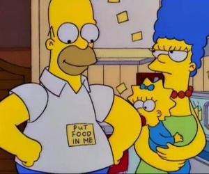 food, homer, and simpsons image