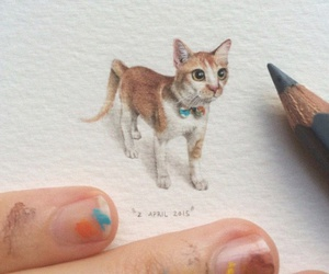 art, cat, and little image