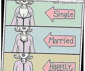 funny, married, and single image